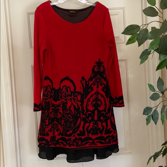 Reborn Dresses & Skirts - Reborn dress Sz xl (12) red black great with boots